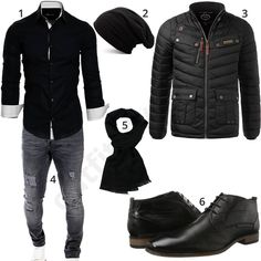 Black men& outfit with scarf, hat and quilted jacket . Classy Outfits, Cool Outfits, Mode Man, Men Closet, Neue Outfits, Mens Boots Fashion, Herren Outfit, Androgynous Fashion, Men's Wardrobe