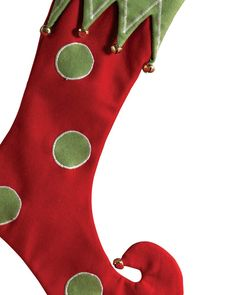 Elf Curly Toe Stocking | elf red christmas stocking our santa s elf red christmas stocking ...