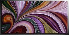 Arcoiris retro Abstract Canvas Art, Acrylic Art, Egg Carton Crafts, Color Swirl, Unusual Art, Color Pencil Art, Beach Art, Fractal Art, Home Art