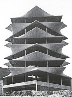 La Pagoda, de Miguel Fisac Conceptual Model Architecture, Spanish Architecture, Classic Architecture, School Architecture, Sustainable Architecture, Architecture Photo, Contemporary Architecture, Foto Madrid, Urban Planning