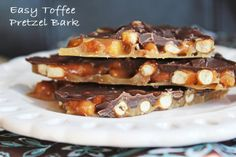 Chocolate Toffee Pretzel Bark