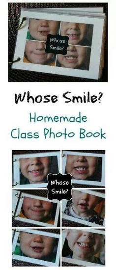 Whose Smile? Preschool Homemade Photo Book Whose Smile? Can be used with a feelings theme or a dental health theme. Preschool Literacy, Classroom Activities, Preschool Crafts, Baby Activities, Colegio Ideas, Homemade Books, Dental Health Month, Health Unit, Family Theme