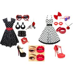 Rockabilly Pin Up Outfits. by rhope on Polyvore featuring мода, Christian Louboutin, Bebe, See by Chloé, Nouv-Elle and Wildfox