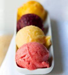 Summer Sorbets..so easy ... no ice cream maker required. Vegan.