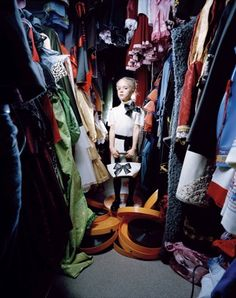"""I love this project. """"To be Young, Russian, and Rich"""" by Anna Skladmann. This is Nastia inside the Costumery Wardrobe, Moscow 2009"""
