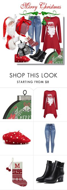 """""""Christmas Shopping With Santa"""" by m-aviles-ma ❤ liked on Polyvore featuring St. Nicholas Square and WALL"""