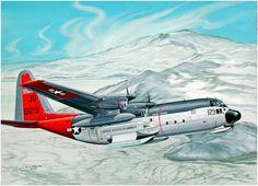Lockheed LC-130 Hercules at Antartica. By Lou Drendel