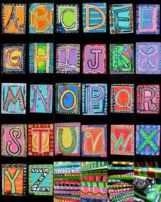 Name Art Projects Elementary Jasper Johns Ideas Middle School Art, Art School, School Auction, High School, Class Art Projects, Auction Projects, Collaborative Art Projects For Kids, Group Projects, Drawing Projects