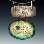 Patti Wells - sterling silver box and enameled pendant