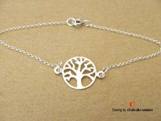 Silver Tree of Life Bracelet Sterling Silver Bracelet Skinny Dainty Bracelets, Handmade Bracelets, Sterling Silver Bracelets, Tree Of Life Bracelet, Thin Chain, Beautiful Gift Boxes, Thing 1, Pendant Necklace, Skinny
