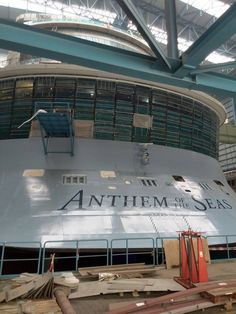 January 21 2015 - Royal Caribbean International's Anthem of the Seas build in Hall 6 at Meyer Werft Papenburg.