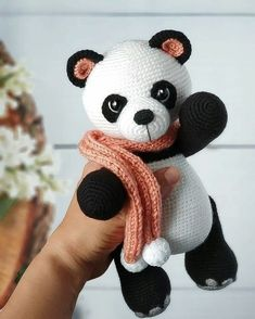 In this article we share amigurumi animal free crochet patterns. I wish you enjoyable knitting. Amigurumi toys are beautiful. Crochet Panda, Crochet Teddy, Crochet Bear, Cute Crochet, Crochet Dolls, Crochet Amigurumi Free Patterns, Crochet Animal Patterns, Stuffed Animal Patterns, Amigurumi Tutorial