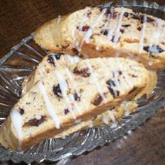 """Espresso Biscotti ~~~  """"These biscotti make a good Christmas gift! The combination of fruits, nuts, chocolate chips, and spices are prefect for any holiday season."""""""