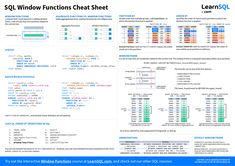 Sql Cheat Sheet, Cheat Sheets, Data Science, Computer Science, Sql Tutorial, Statistics Math, Big Data, Cheating, How To Apply