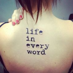 Typewriter | 26 Unique Font Ideas For Your Next Tattoo