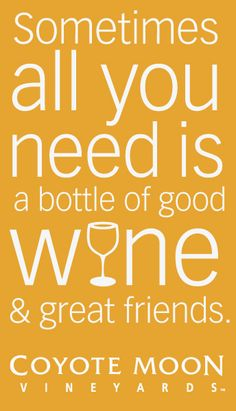 All you need is wine & friends