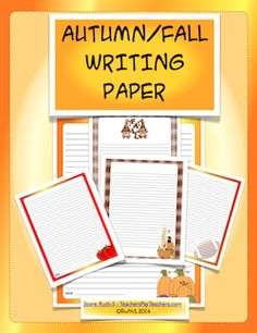 As a native New Englander, there's always a heightened sense of excitement as summer wanes and the signs of autumn begin to appear. Mother Nature is at her best as she paints her forests with deep crimsons and yellows. This packet is writing paper, students can use to create autumn stories and poems. 31 pages.  Enjoy!