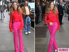 Pink and Red Color blocking #AnnHeartsFashion #Fashion