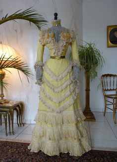 Fanciful Victorian Gown, ca. 1899