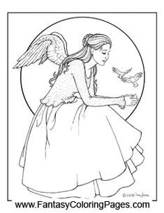 49 best Angels - Coloring Sheets images on Pinterest