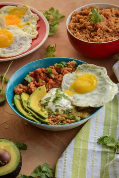 Quick and Easy Huevos Rancheros Quinoa Power Bowls ~ A vegetarian, gluten-free recipe that's perfect for breakfast, lunch or dinner! ~ from Gringalicious