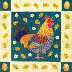 Rooster Morning Art of Anne Mortimer