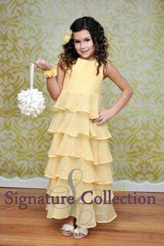 Flower Girl Spring Dress Buttercup Yellow by SignatureCollectionB, $124.98