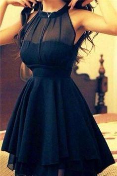 Short Prom Dresses For Girls,Sweet 16 Dress For Teens,Chiffon Navy Blue Homecoming Dress,Cheap Prom Dress,A-Line Prom Dress,Plus Size Prom Dresses,Graduation Dress,Homecoming Dress #juniorscuteclothes