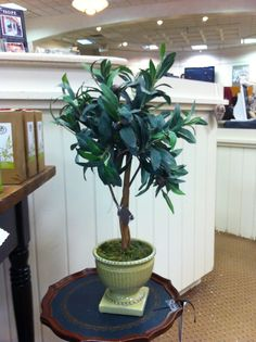 This cute table top artificial olive tree represents the 80 Acres line well! Only $19.99