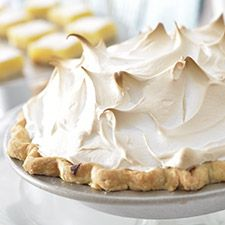 Mile-High Meringue Pie. This pie, is tart, sweet… and rich! The extra-creamy meringue is made with Marshmallow Fluff!