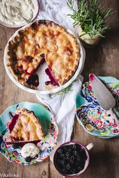 This wild blackberry pie celebrates the best of the summer!