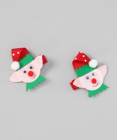 Take a look at this Red Lil' Elf Clip Set by Bearington Collection on #zulily today!