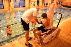 I Swim Pool Access Hoist available in the UK through Dolphin Lifts
