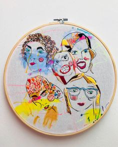 Girls  embroidery  Hand painted and hand sewing