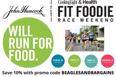 Running with Fido at the Fit Foodie 5K - Save 10% with promo code BEAGLESANDBARGAINS #sponsored | http://www.beaglesandbargains.com/running-fido-fit-foodie-5k/
