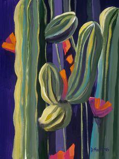 Abstract Desert Painting by Diana Madaras Cactus Paintings, Mexican Art Painting, Abstract Art Painting, Desert Painting, Jungle Art, Original Paintings, Jungle Wall Art, Southwest Art, Art