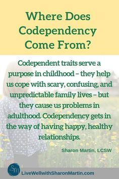 Break the Pattern of Codependent Relationships - Live Well with Sharon Martin Codependency Quotes, Codependency Recovery, Cognitive Behavioral Therapy, Trauma Therapy, Therapy Tools, Occupational Therapy, Psychology Quotes, Forensic Psychology, Narcissistic Behavior