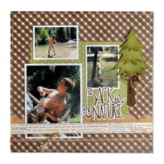 Back to Nature Scrapbook Page