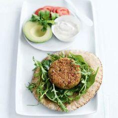Quinoa and Chickpea Burgers   MyRecipes.com #myplate #grain #vegetarian