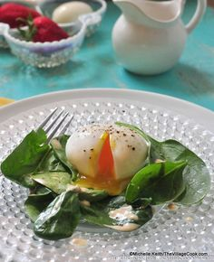6 minute eggs over spinach