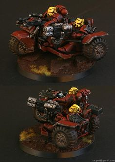 Attack Bike, Blood Angels, Fast Attack, Jca, Red, Yellow