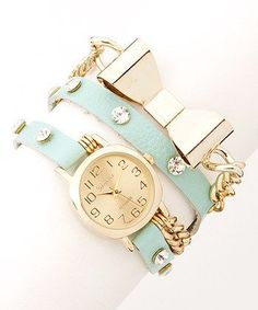 Mint gold and bows. Perfect! So girly