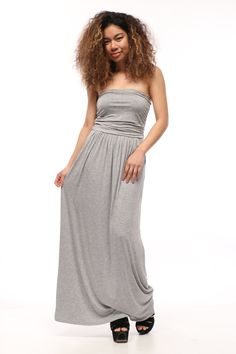 Lydia Strapless Maxi Dress