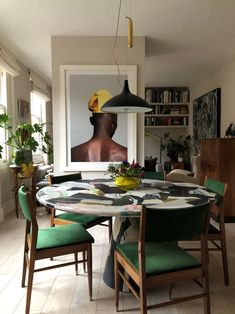 Casa Rock, Dining Room Inspiration, Decoration, Colorful Interiors, Living Spaces, Living Room, Dining Chairs, Dining Area, House Design