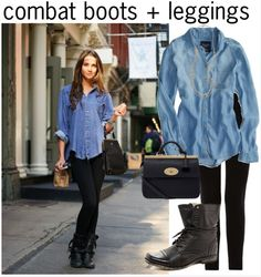 Combat Boots + Leggings, 3 Ways to Style Combat Boots to Make the Perfect Outfit! via History & High Heels