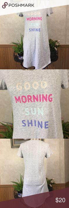 "Sonoma sleep shirt Lightweight sleep shirt that says"" Good morning sunshine"" Sonoma Intimates & Sleepwear Pajamas"
