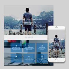 Stand out with this responsive website template from ItSoEzi