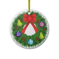 Christmas Wreath Christmas Tree Ornament