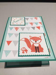 Pop up card Foxy friends SU