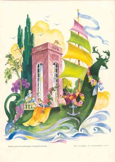 illustration by Jean Mercier Wooden Ship, Color Studies, Faeries, Golden Age, Art Boards, Mythology, Tatoos, Fairy Tales, Concept Art